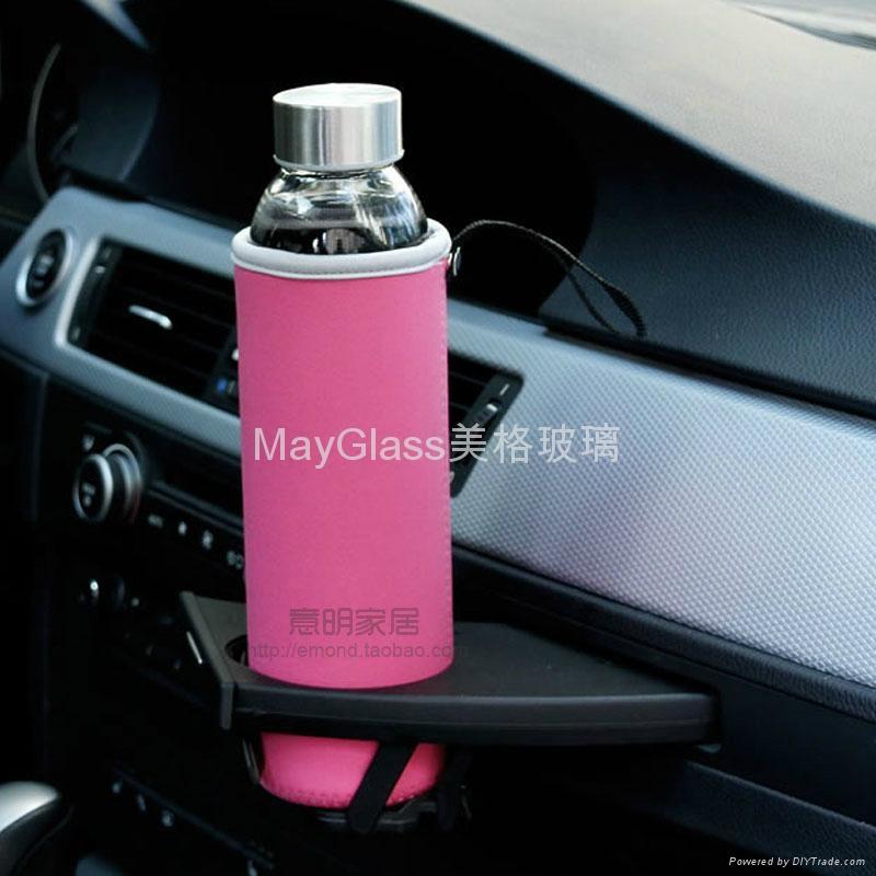 耐热玻璃密封车载水杯瓶 2