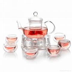 耐熱玻璃制整套花草茶具