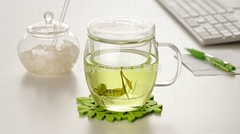 耐熱玻璃帶蓋過濾膽花草茶杯子