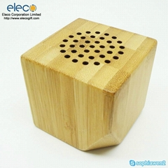real bamboo/wood mini speaker