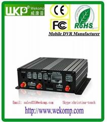 3G 4CH Dual SD Card Mobile DVR H.264 Anti-vibration DVR Vehicle Video Surveillan