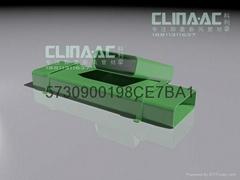 廠家直供140mm×55mm新風系統頂面安裝方形送風管材