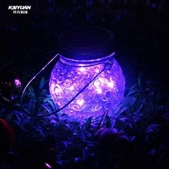 2018 new arrival led flashing jar / solar jar