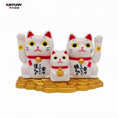 Mini portable solar lucky cat dancing toy for promotional gifts