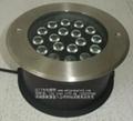 DMX512全彩外控18WLED地埋燈 1