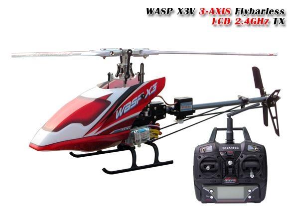 思凯利6通道无副翼3D特技直升机 wasp x3v 1