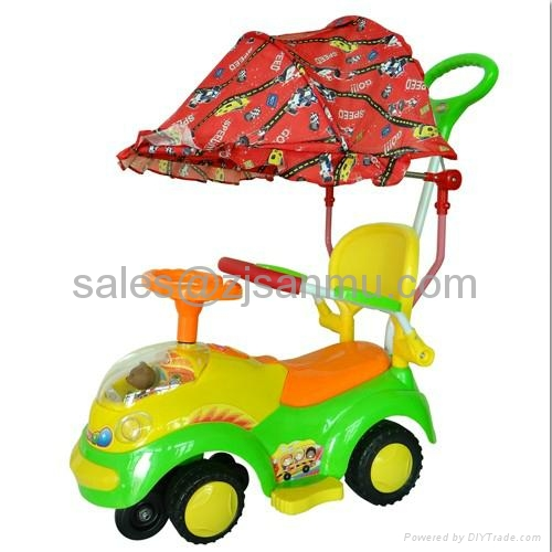 ride on swing car 993-BCH3 with tent 1