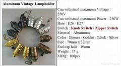 Zhongxin E27 aluminium lampholder - 1