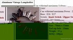 Zhongxin E27 aluminium lampholder - 2