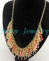 hot selling beads&crystal necklace jewelry