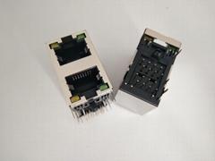 RJ45網口直通插座全塑無LED連接器