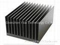 Custom heatsin produced by extruded aluminum alloy material