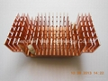 Color anodized extrusion heatsink with