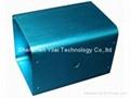 Blue anodized aluminum profile box