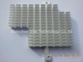 Silver anodized extrusion heatsink with