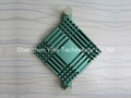 Green anodized colorful small chipset heatsink