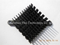 Heat sink aluminum with black anodized BGA