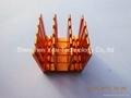 Red anodized small IC heatsink