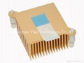 Yellow thermal heat sink with thermal paste