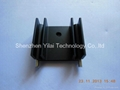 Electronic valve heat sink, black