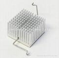 Clip-on heatsink for standard silver anodized heatsinks