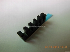 Small heatsink 20*4*7mm black anodized aluminum heatsink with 8810 thermal pad (Hot Product - 1*)