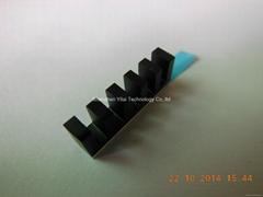 Small heatsink 20*4*7mm black anodized aluminum heatsink with 8810 thermal pad
