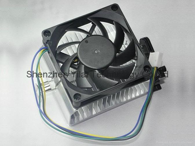 4 pin and 70*70*15mm fan cpu cooler heatsink PC cooler 1