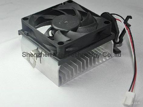 3-pin with 70*70*20mm new cooler fan in cpu fan heatsink 1