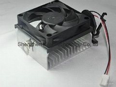 3-pin with 70*70*20mm new cooler fan in cpu fan heatsink