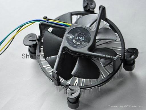 4-pin with 2100RPM cpu cooling fan cooler for intel 775 series 1