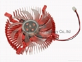 Round CPU Cooler cooling heatsink fan