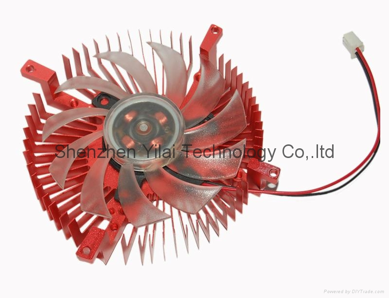 Round CPU Cooler cooling heatsink fan red 12VDC 1