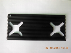 95*210*8mm black anodizing CNC drilling aluminum extrusion heatsinks.