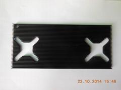 95*210*8mm black anodizing CNC drilling