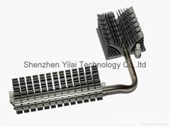 Aluminum or copper heatsink with heatpipe in best performance