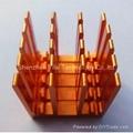 Red anodized custom aluminum CNC