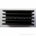 28*14*6mm black anodized aluminum