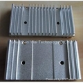 Aluminum extruded heatsinks provide a cost effective solution for cooling