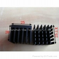 Extruded aluminum 25*25*20mm heat sinks solutions.