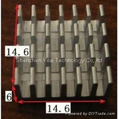 Cross cutting heatsink 14.6*14.6*6mm extruded 6063-T5 aluminum heatsink