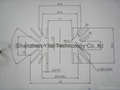 Audio amplifer heatsink is assembled by heatsink and pins