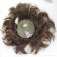 Silk Top Indian Virgin Human Hair Toupee