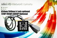 720P P2P Onvif 940nm Invisable Ir Leds Night Vision Hd Mini IR Ip Network Camera