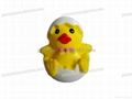 PU egg chicken novelty stress ball