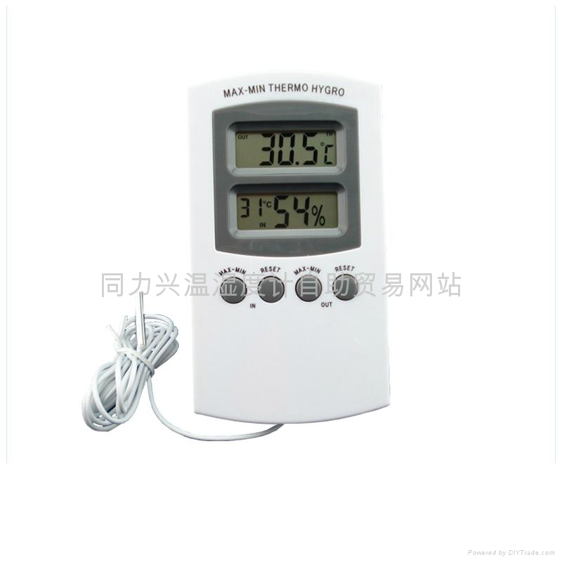 In-Outdoor Digital Thermometer with Hygrometer 1