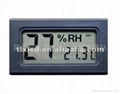 Small Digital Thermometer Black / Small