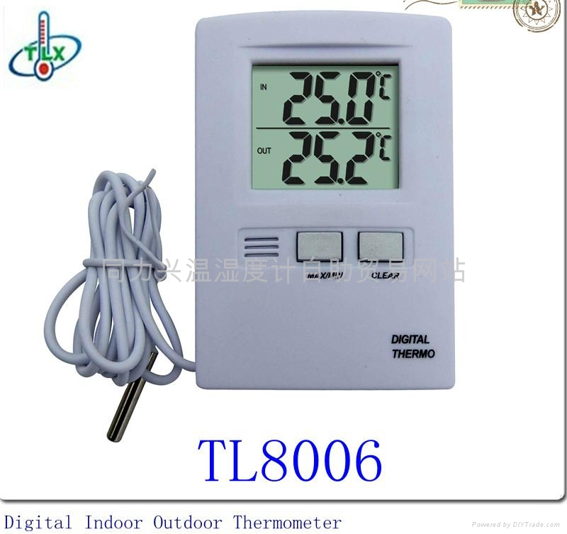 Big Digit Wired Indoor/Outdoor Thermometer 1