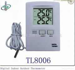 大屏幕显示室内外温度计