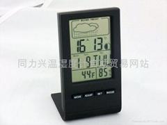 万年历温度湿度仪有天气状况月相显示
